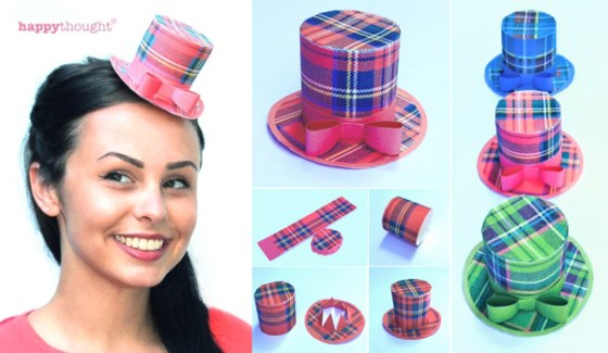 Tartan mini top hat ideas for a Scottish Burns Night Supper celebration