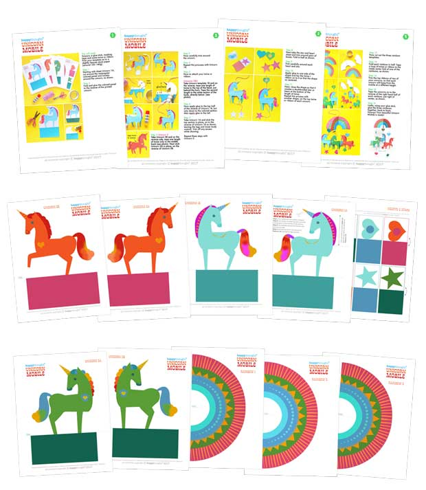 Unicorn Mobile Create Your Own Mobile With DIY Instruction