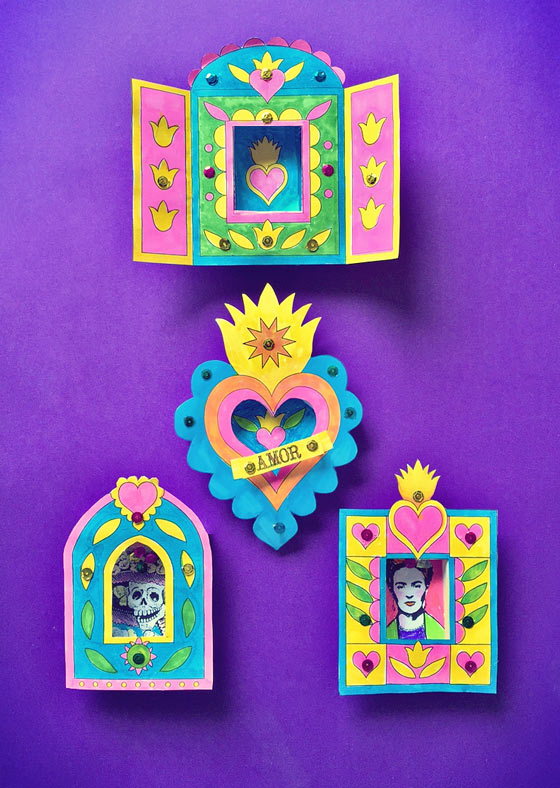 Day of the Dead nicho craft activity: Printable templates and portraits!