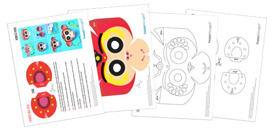 Monkey mask template: Printouts + crafts to celebrate Chinese New Year!