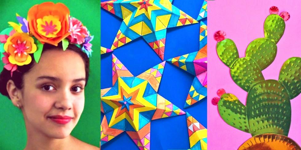 Craft templates for Mexican celebration Cinco de Mayo