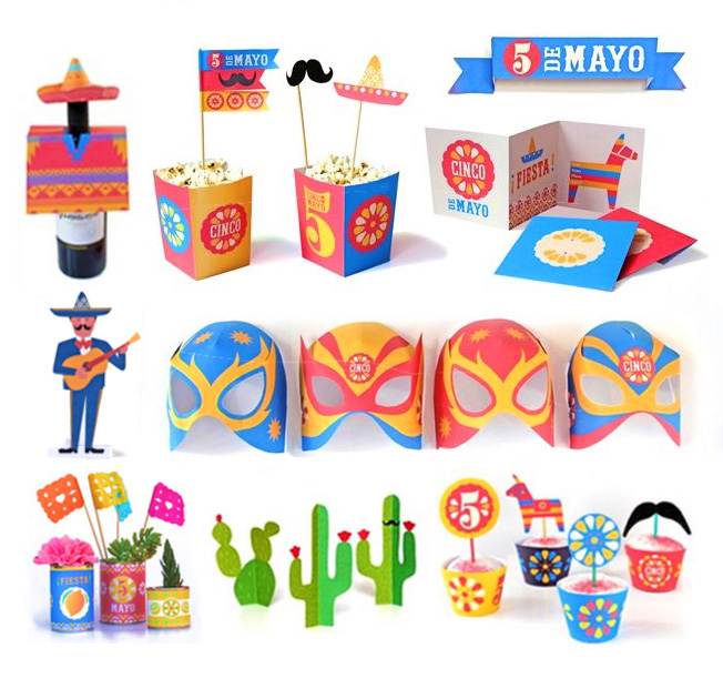Cinco de Mayo decorations and craft projects!