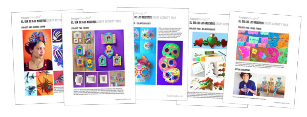Craft worksheets for Day of the Dead activity, El dia de los Muertos PDF craft printables!