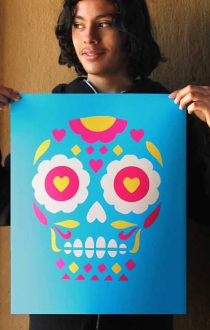 Day of the Dead or El Dia de los Muertos print for home decorations