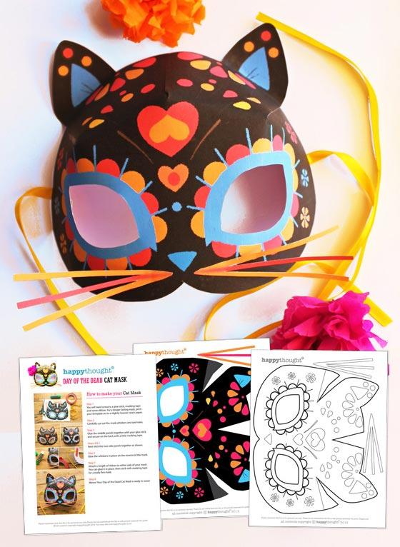 Cat Mask Template : template, Calavera, Template, Dead:, Dress, Parties