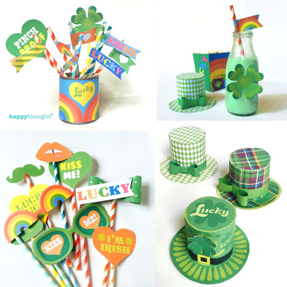 St Patricks Day printable DIY party celebration cutouts!