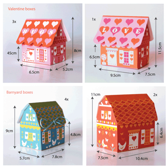 Gift box set ideas - Valentine and Barnyard templates!