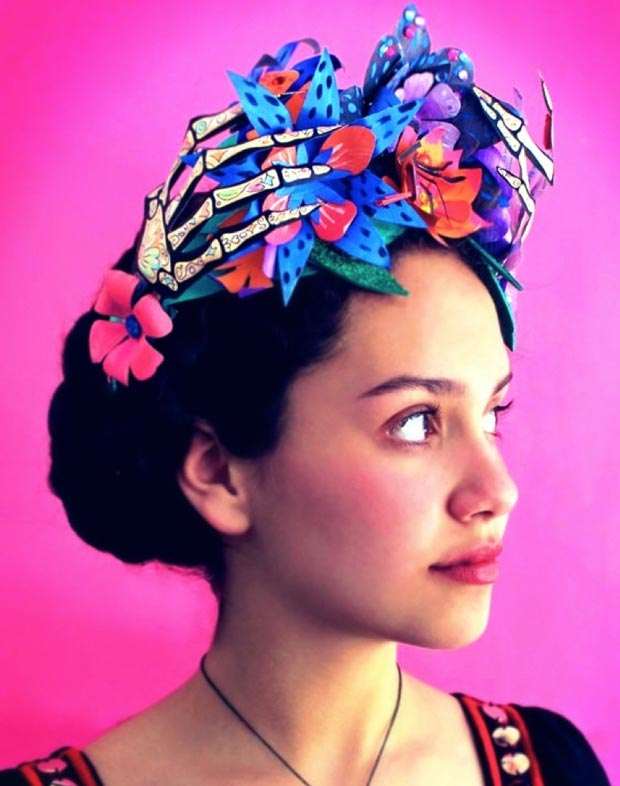 DIY instructions and tutorial on making a paper flower crown