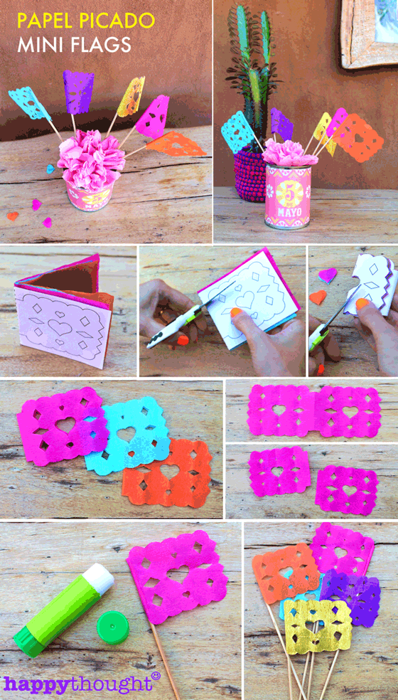 Mini papel picado flags tutorial!