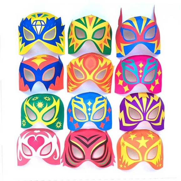 Mask Designs Ideas: Make Printable Lucha Libre Masks