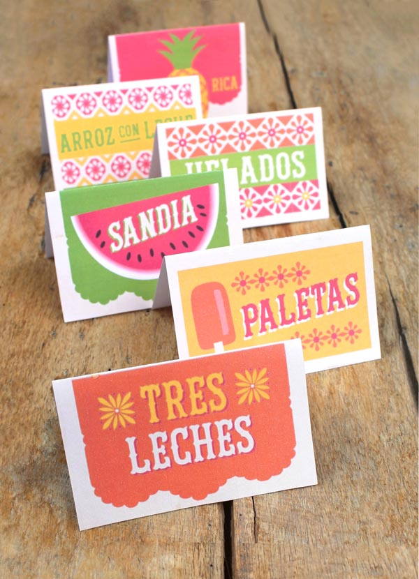 99 printable food and drink ideas for a Mexican themed event