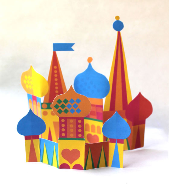 Russian nesting doll papercraft townscape!