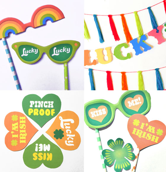 Simple St Patrick's Day party celebration photo props!