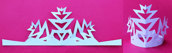 Paper craft - Snowflake crowns craft headpiece - Happythought Holiday craft activity pack!