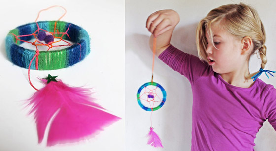 Springtime craft activities: Mini dreamcatcher tutorial!