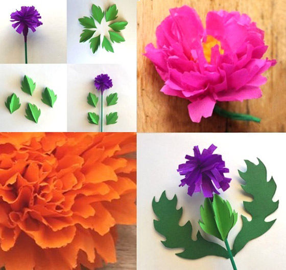 Springtime craft ideas: Spring flowers made from paper!