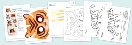 printable tiger worksheets