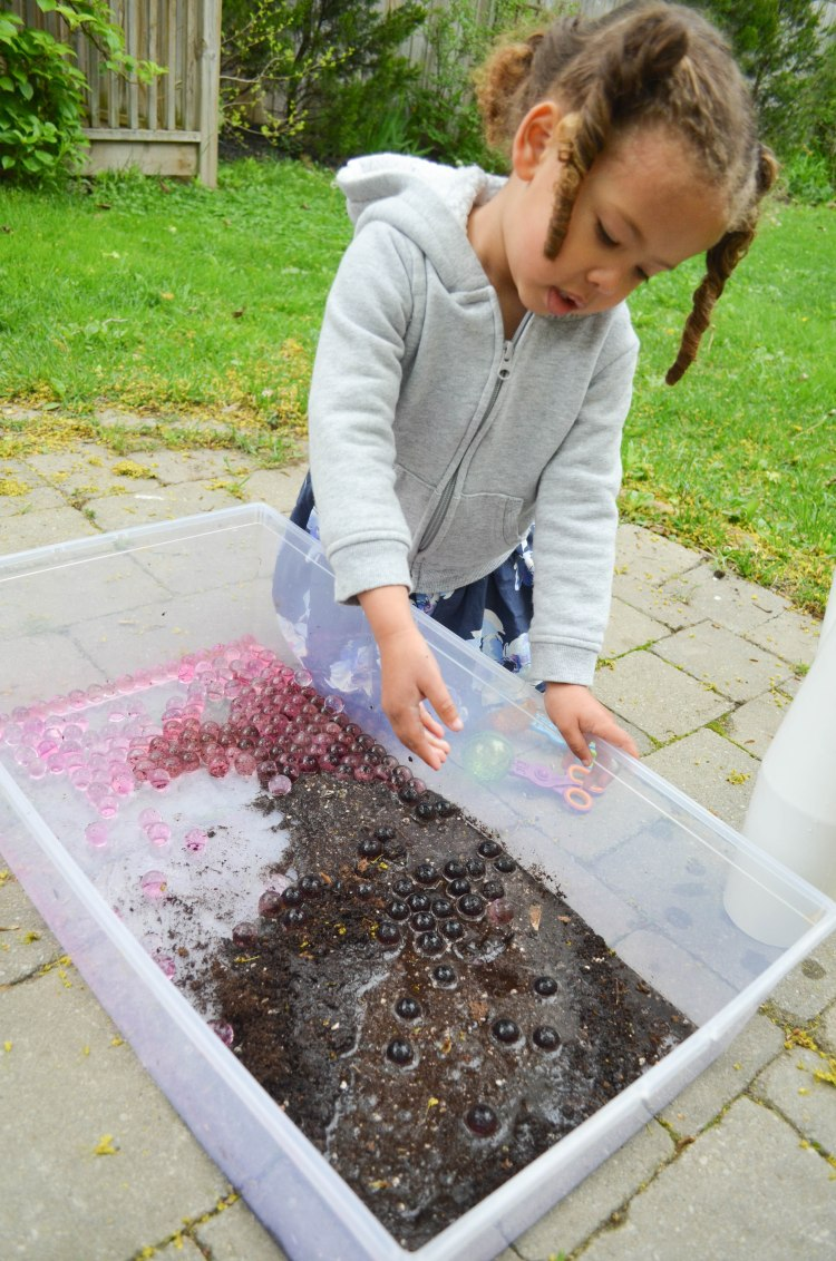 Water beads in mud activity your  for toddlers and preschoolers