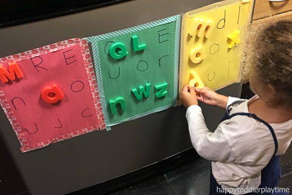 Letter and colour match preschooler and toddler activity