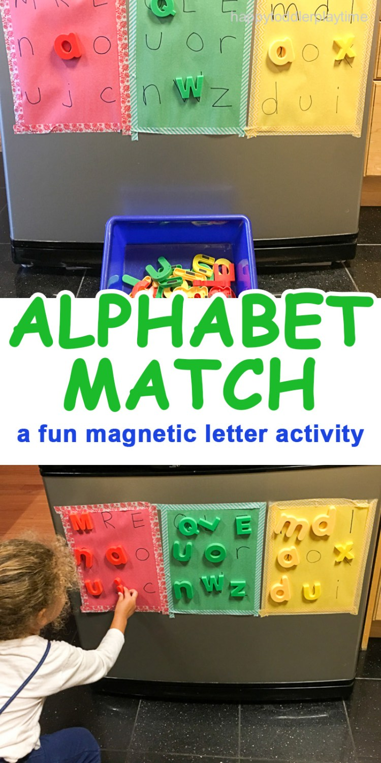 Alphabet match preschooler and toddler activity