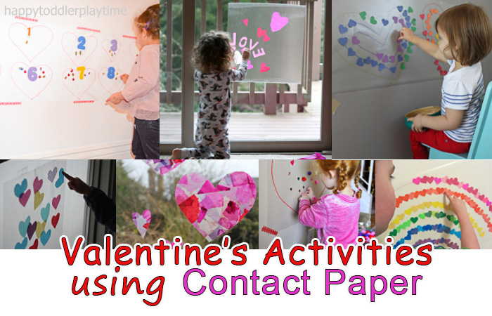 Valentine S Day Activities And Crafts Using Contact Paper Happy