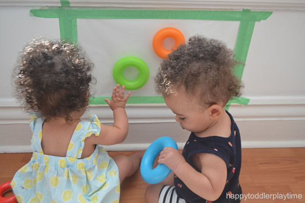 BABY Ring Grab sticky wall activity for babies