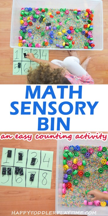 math sensory bin easy math activities for toddlers and preschoolers
