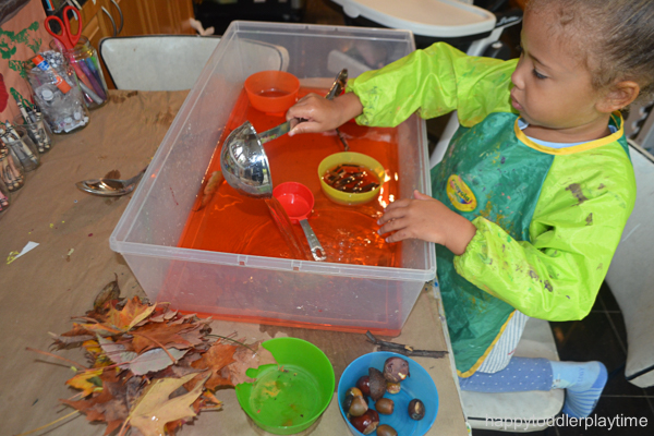 fall activity for toddlers and preschoolers