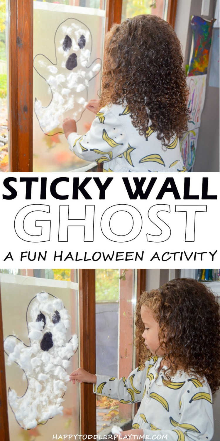 halloween contact paper activity for toddlers and preschoolers
