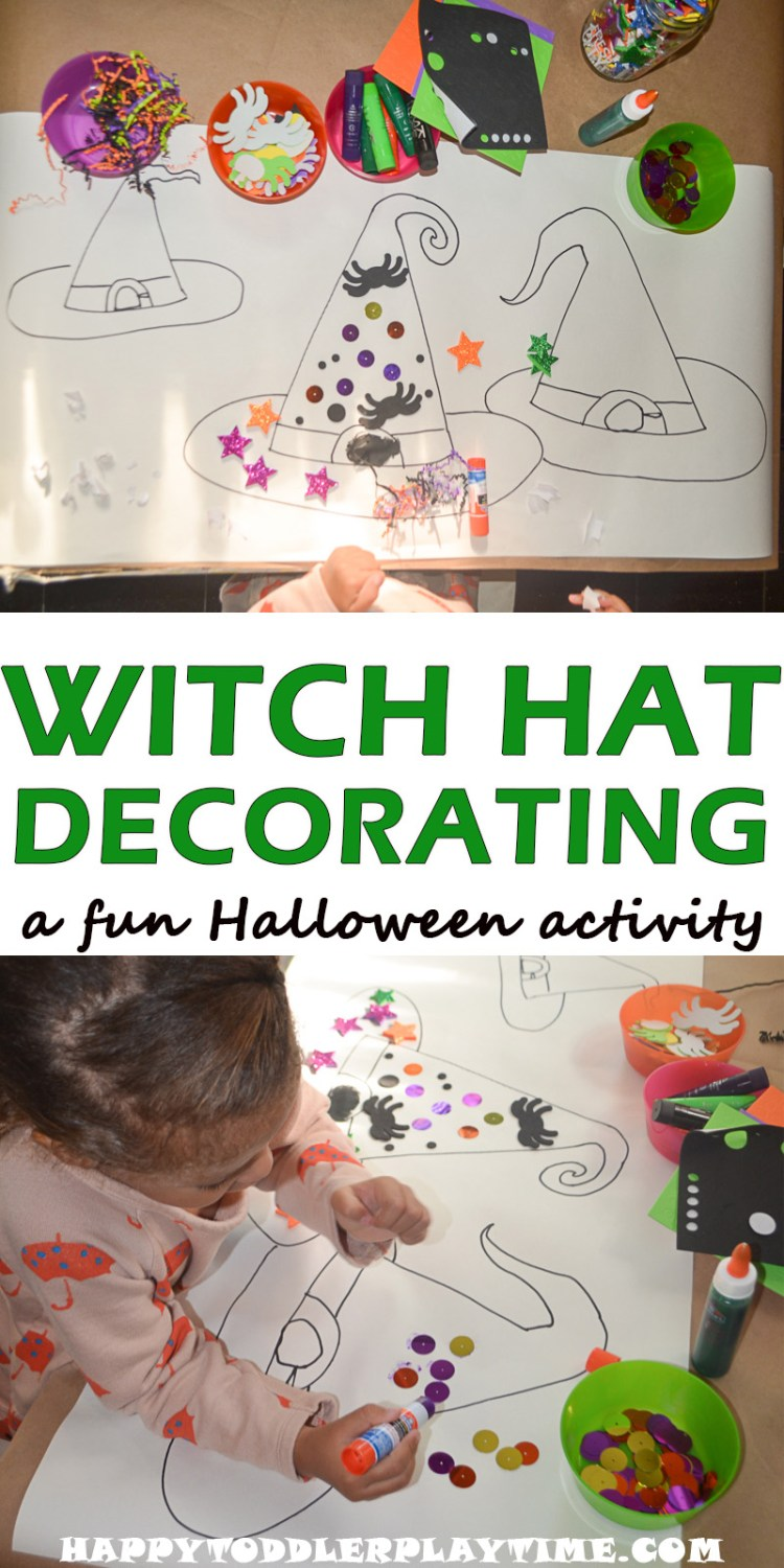 WITCH HAT DECORATION pin