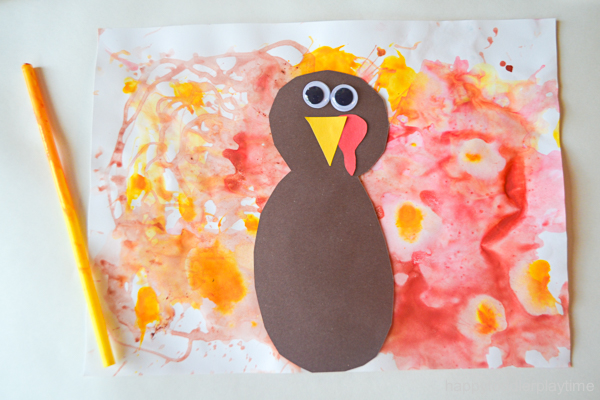 BLOW PAINTED TURKEY CRAFT 27