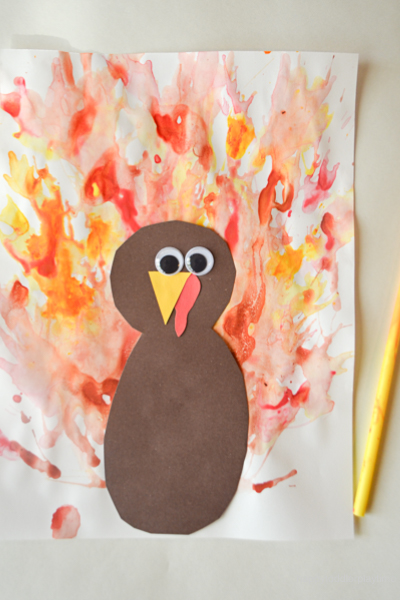 BLOW PAINTED TURKEY CRAFT26