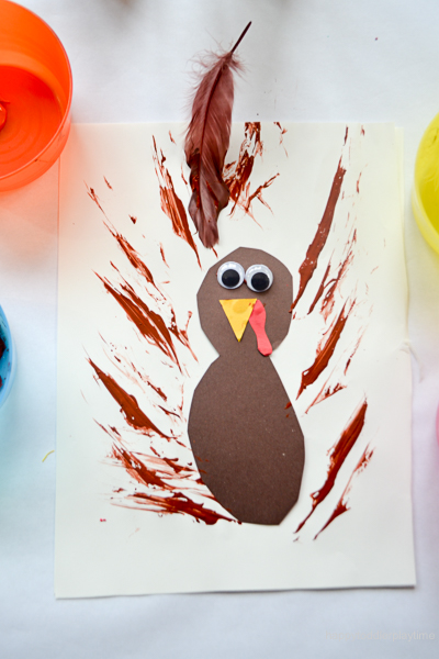 FEATHER PAINTED TURKEY 1