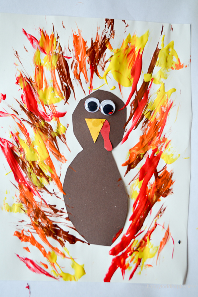 FEATHER PAINTED TURKEY 11
