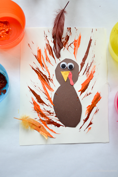 FEATHER PAINTED TURKEY 2