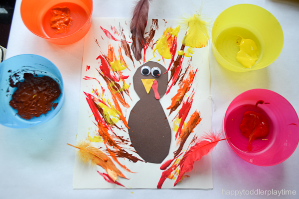 FEATHER PAINTED TURKEY 6