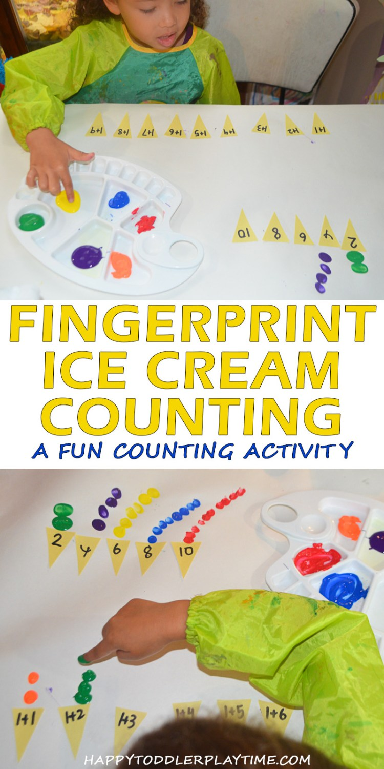 FINGERPRINT ICE CREAM COUNTING pin