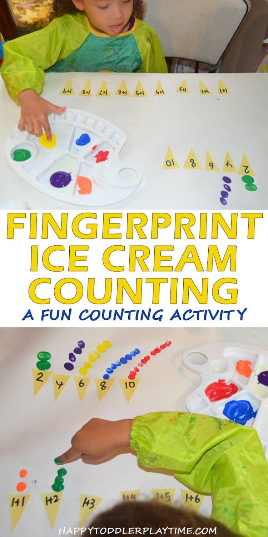 FINGERPRINT ICE CREAM COUNTING pin