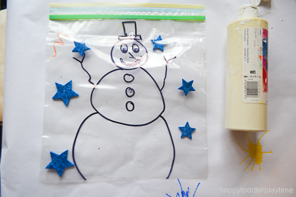 SNOWMAN MESS FREE PAINTING