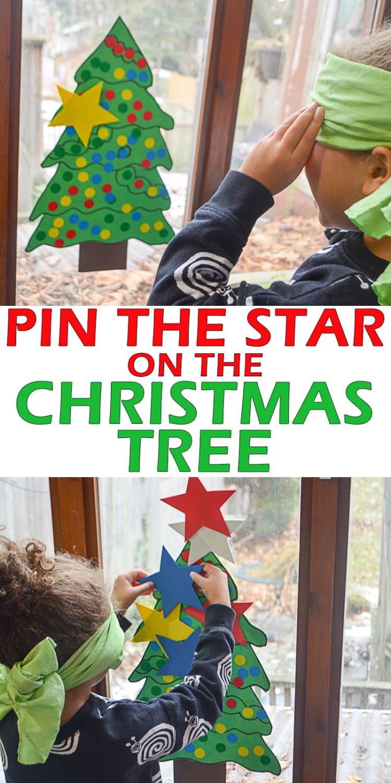 PIN THE STAR ON THE XMAS TREE pin