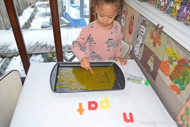 BABY FOOD WRITING TRAY 11