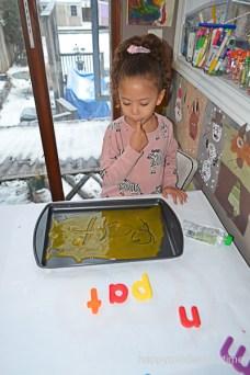 BABY FOOD WRITING TRAY 15