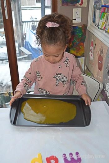 BABY FOOD WRITING TRAY 5