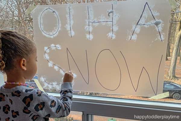 Snow letter writing activity