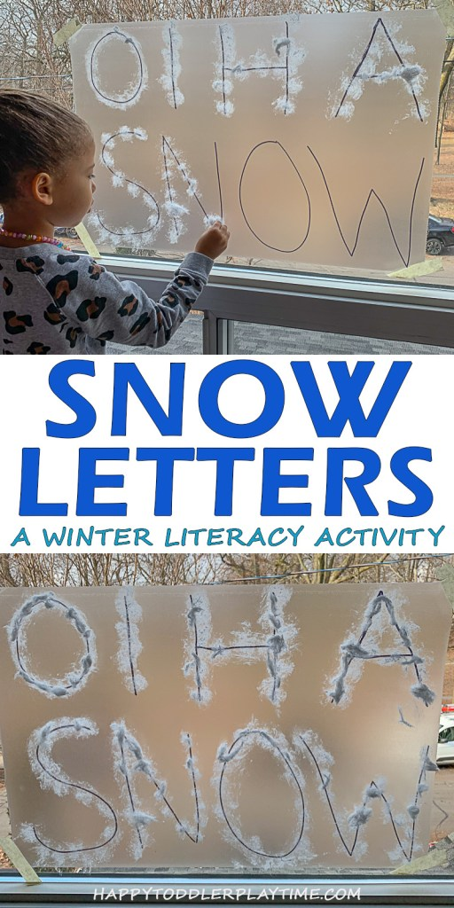 winter sticky Wall using snow letters