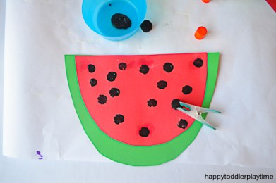 WATERMELON POM POM CRAFT 4