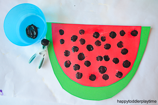 WATERMELON POM POM CRAFT 9
