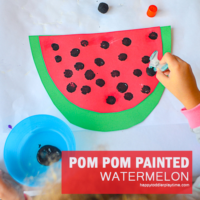 WATERMELON POM POM CRAFT fb