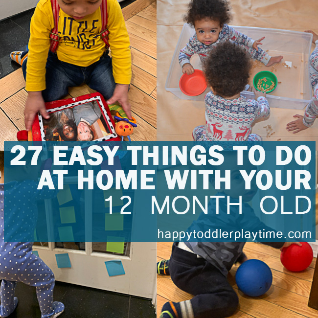 Easy Things to Do at Home With Your 12 Month Old