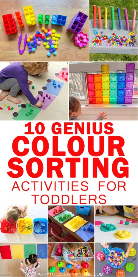 1o genius color sorting activities for toddlers  and preschoolers